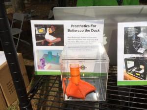 Butercup's Foot at Simplify 3D Makerfair in NYC 1