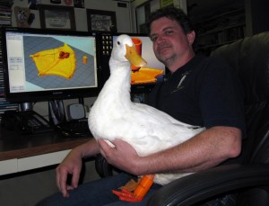 Mike & Buttercup at Computer